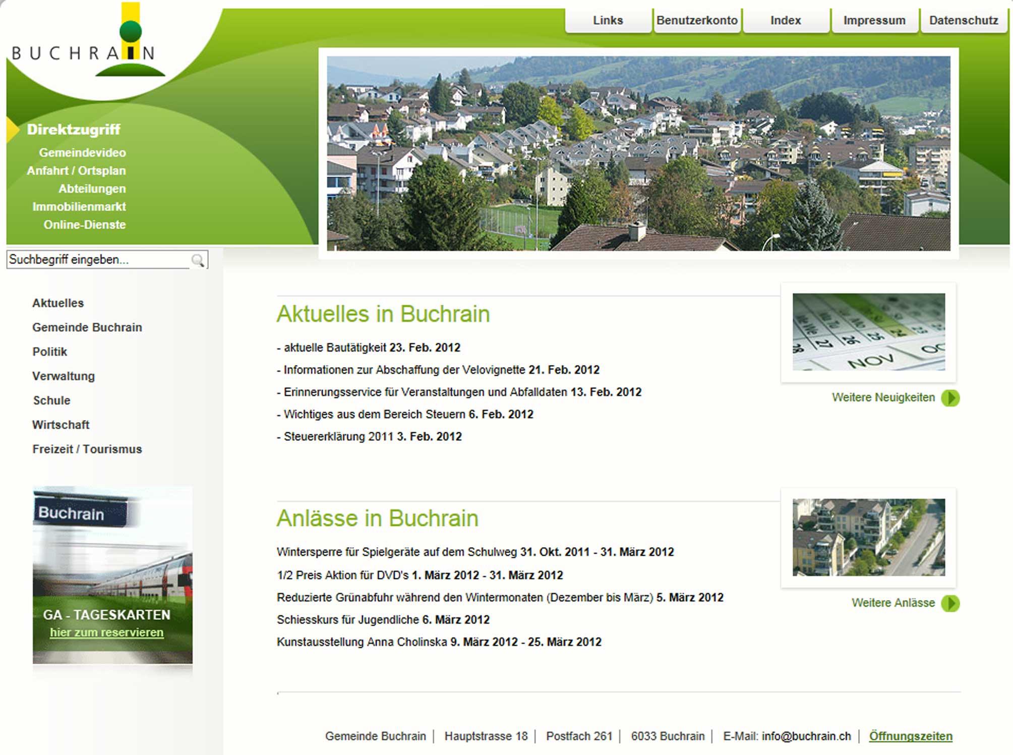 Ausbau homepage erinnerungsservice for Spiegel homepage