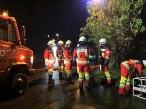 Die Feuerwehren aus Udligenswil und Adligenswil standen im Einsatz. Bild zVg