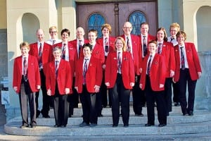 Der Handharmonika Club Root Perlen in schmucker Uniform. Bild zVg.