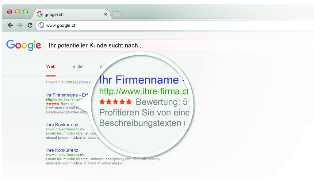 Google Optimierung mit fünf Sternen