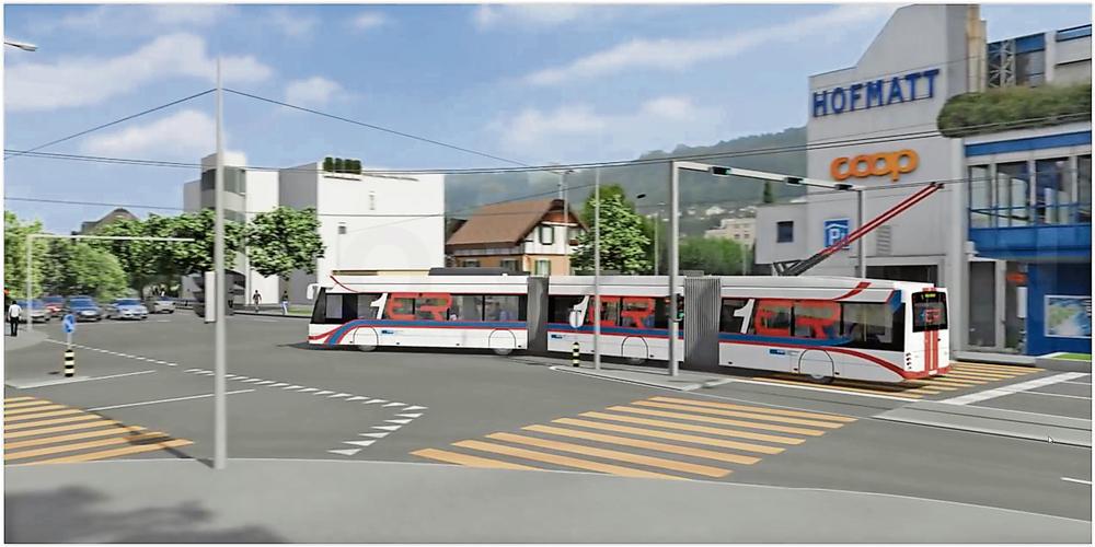 RBus der Linie 1 soll ab 2019 bis nach Ebikon fahren
