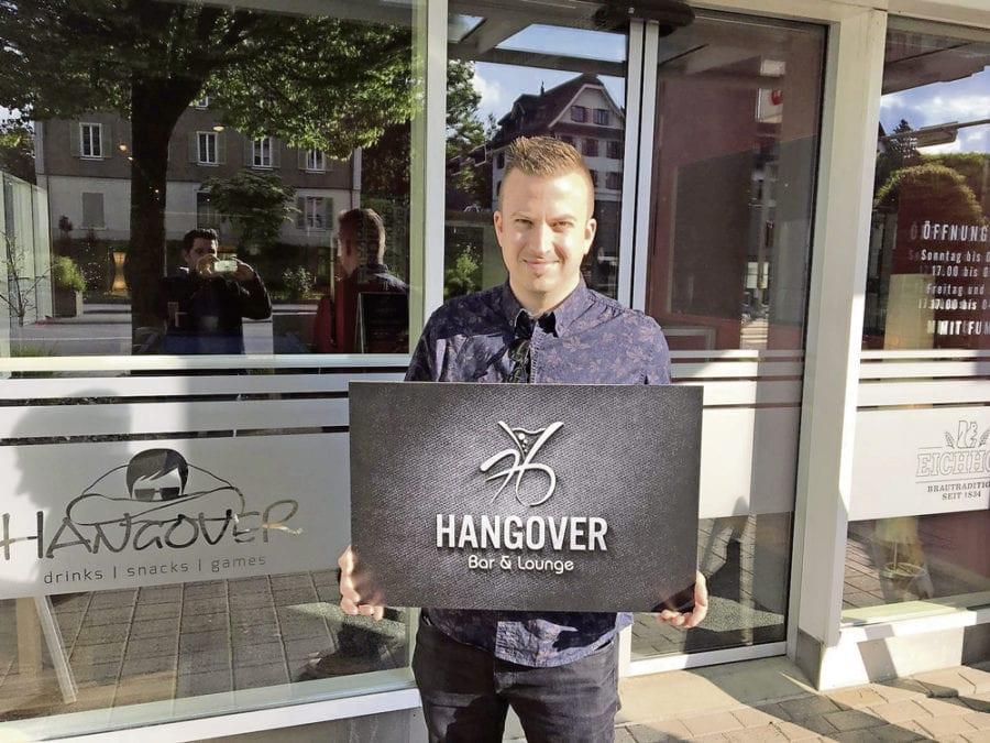 Gregor Möll ist voll Tatendrang für die trendige Hangover Bar in Ebikon. Bild zVg.