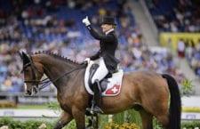 Marcela Krinke Susmelj mit smeyers Molberg bei der Europameisterschaft 2016 in Aachen: Platz 16. Bild zVg.