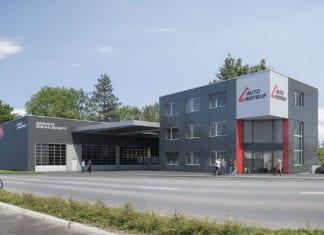 Eine Visualisierung des neuen Kompetenzzentrums für Unfall- und Pannenhilfe in Emmen. Bild zVg.