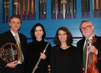 Die Stars des Abends: Irène Stadelmann (Flöte), Rudolf Sutter (Violine), Adrian Lustenberger (Horn) und Anita Koch-Ulmann (Orgel). Bild zVg.