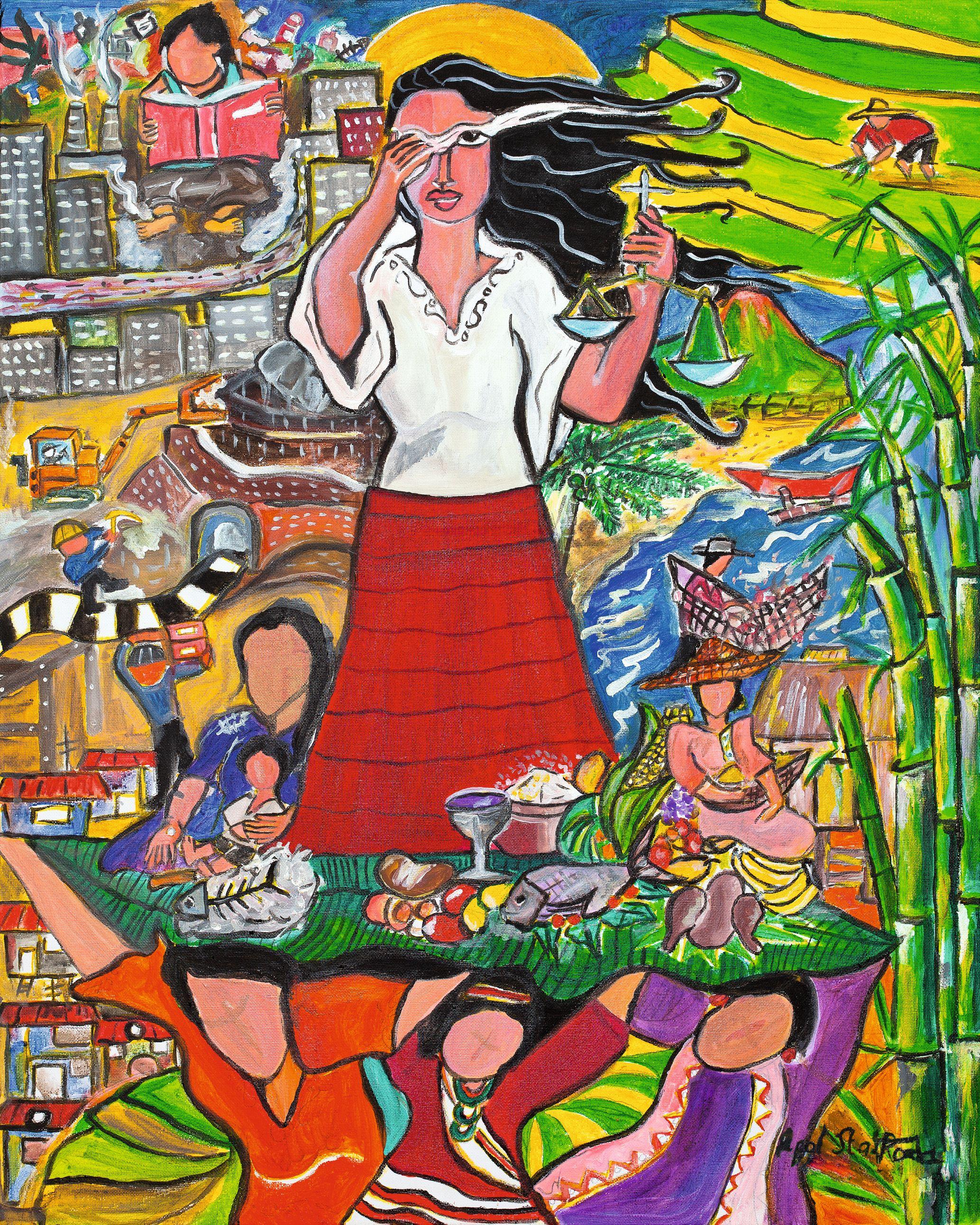 «Ein flüchtiger Blick auf die philippinische Situation» von Rowena «Apol» Laxamana-Sta. Rosa. Bild zVg.