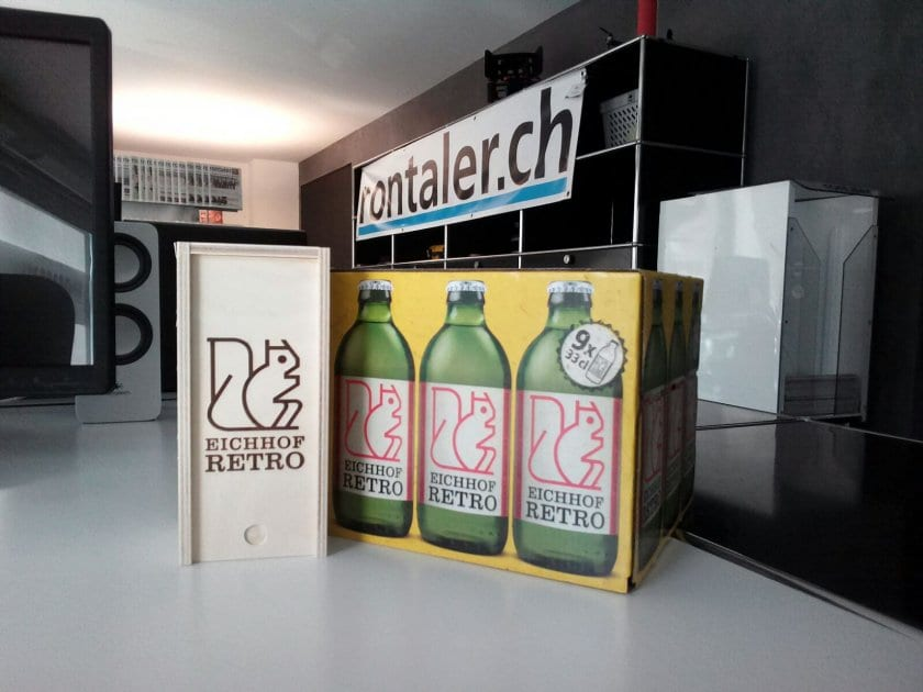 Das neue Eichhof Retro macht verpackungstechnisch eine gute Falle. Bilder Stefanie Egli