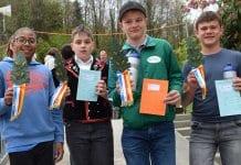 Jamie Tran, Gian Paolo Chiodo, David Birrer und Sven Rohrer (von links) sicherten sich beim Saisonauftakt in Wolhusen die Auszeichnung. Bild zVg.