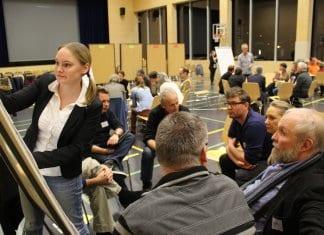 An der Zukunftswerkstatt wurden Meinungen gesammelt und Ideen ausgewertet. Bild zVg.