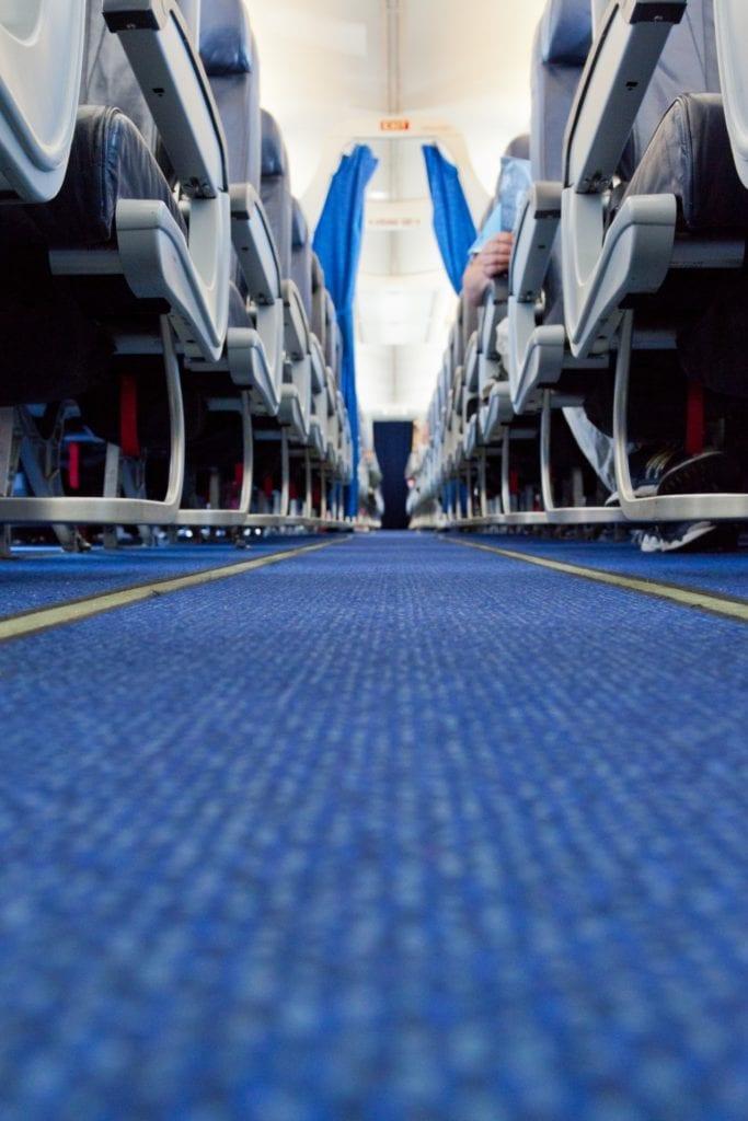 Exportschlager aus der Schweiz: technische Textilien wie Teppiche oder Sitzbezüge in Flugzeugen.